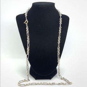 David Yurman 925 & 18k Gold Figaro toggle Necklace